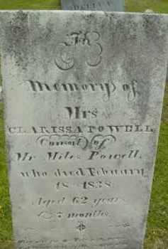 POWELL, CLARISSA - Berkshire County, Massachusetts   CLARISSA POWELL - Massachusetts Gravestone Photos