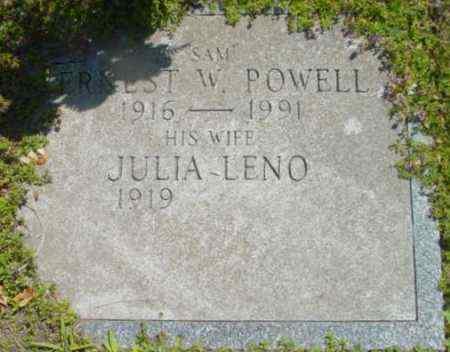 POWELL, ERNEST W - Berkshire County, Massachusetts | ERNEST W POWELL - Massachusetts Gravestone Photos