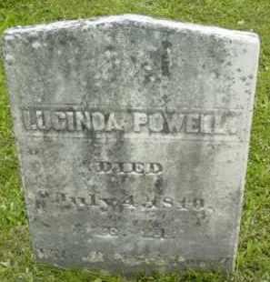 POWELL, LUCINDA - Berkshire County, Massachusetts | LUCINDA POWELL - Massachusetts Gravestone Photos