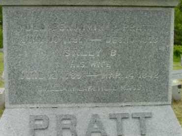 PRATT, BENJAMIN PAUL - Berkshire County, Massachusetts | BENJAMIN PAUL PRATT - Massachusetts Gravestone Photos