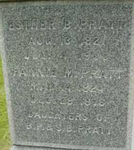 PRATT, ESTHER B - Berkshire County, Massachusetts | ESTHER B PRATT - Massachusetts Gravestone Photos
