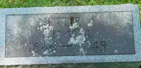 PRATT, NETTIE A - Berkshire County, Massachusetts | NETTIE A PRATT - Massachusetts Gravestone Photos