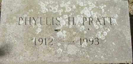 PRATT, PHYLLIS H - Berkshire County, Massachusetts | PHYLLIS H PRATT - Massachusetts Gravestone Photos