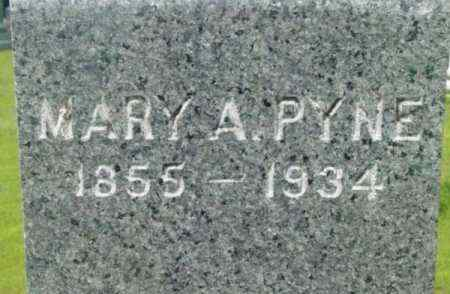 PYNE, MARY A - Berkshire County, Massachusetts | MARY A PYNE - Massachusetts Gravestone Photos