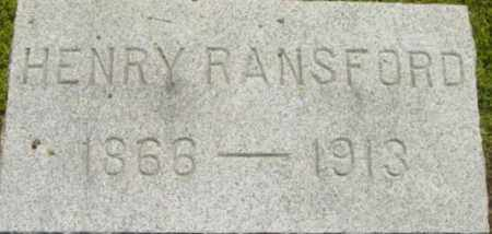 RANSFORD, HENRY - Berkshire County, Massachusetts | HENRY RANSFORD - Massachusetts Gravestone Photos