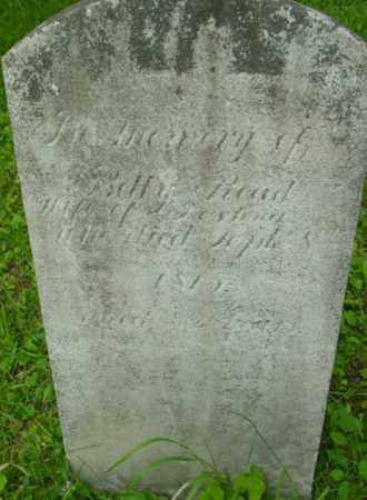 READ, BETTY - Berkshire County, Massachusetts | BETTY READ - Massachusetts Gravestone Photos