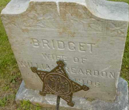 REARDON, BRIDGET - Berkshire County, Massachusetts | BRIDGET REARDON - Massachusetts Gravestone Photos