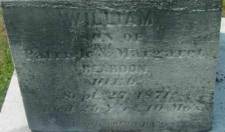 REARDON, WILLIAM - Berkshire County, Massachusetts   WILLIAM REARDON - Massachusetts Gravestone Photos