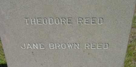 BROWN REED, JANE - Berkshire County, Massachusetts | JANE BROWN REED - Massachusetts Gravestone Photos