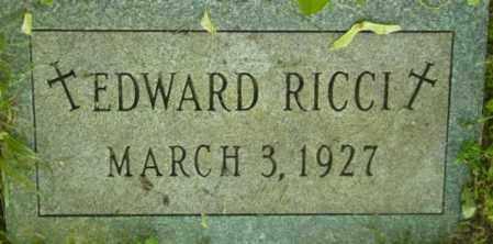 RICCI, EDWARD - Berkshire County, Massachusetts | EDWARD RICCI - Massachusetts Gravestone Photos