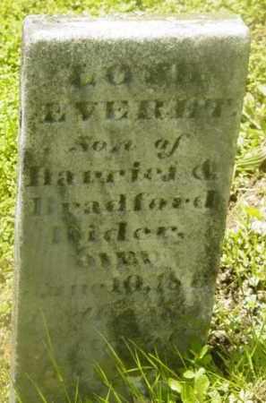 RIDER, EVERETT - Berkshire County, Massachusetts | EVERETT RIDER - Massachusetts Gravestone Photos