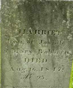ROBBERTS, HARRIET - Berkshire County, Massachusetts | HARRIET ROBBERTS - Massachusetts Gravestone Photos