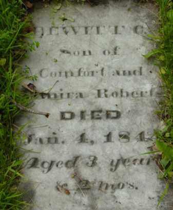 ROBERT, DEWITT CLINTON - Berkshire County, Massachusetts | DEWITT CLINTON ROBERT - Massachusetts Gravestone Photos