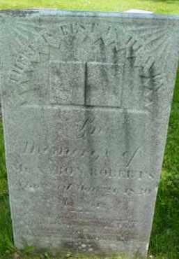 ROBERTS, AARON - Berkshire County, Massachusetts | AARON ROBERTS - Massachusetts Gravestone Photos