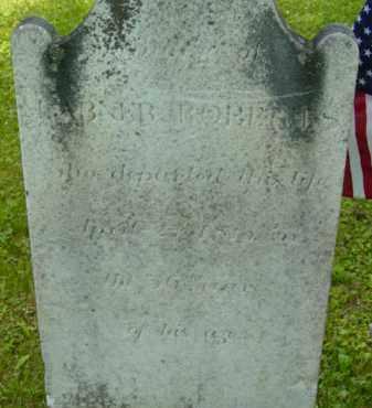 ROBERTS, ABNER - Berkshire County, Massachusetts | ABNER ROBERTS - Massachusetts Gravestone Photos