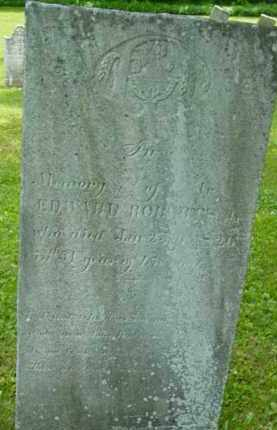 ROBERTS, EDWARD - Berkshire County, Massachusetts | EDWARD ROBERTS - Massachusetts Gravestone Photos