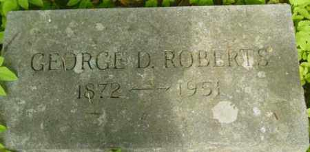 ROBERTS, GEORGE D - Berkshire County, Massachusetts   GEORGE D ROBERTS - Massachusetts Gravestone Photos