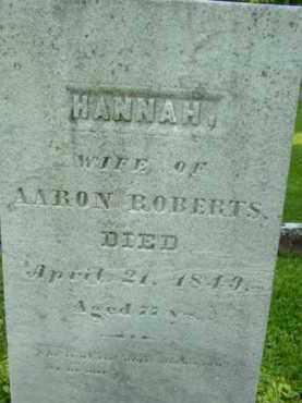 ROBERTS, HANNAH - Berkshire County, Massachusetts | HANNAH ROBERTS - Massachusetts Gravestone Photos