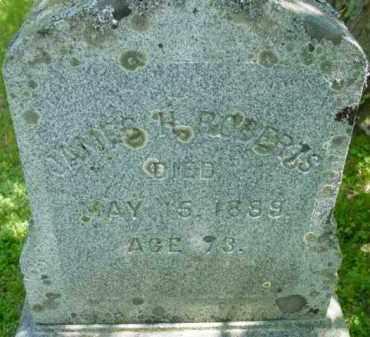 ROBERTS, JAMES H - Berkshire County, Massachusetts | JAMES H ROBERTS - Massachusetts Gravestone Photos