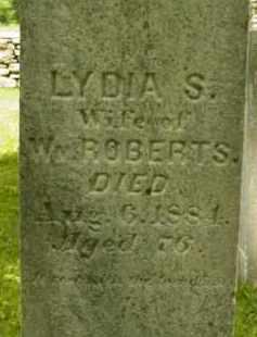 ROBERTS, LYDIA S - Berkshire County, Massachusetts | LYDIA S ROBERTS - Massachusetts Gravestone Photos