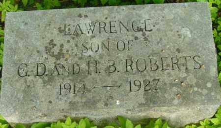 ROBERTS, LAWRENCE - Berkshire County, Massachusetts | LAWRENCE ROBERTS - Massachusetts Gravestone Photos