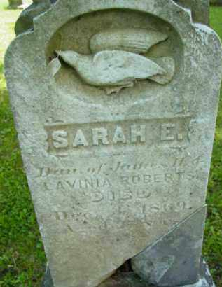 ROBERTS, SARAH E - Berkshire County, Massachusetts | SARAH E ROBERTS - Massachusetts Gravestone Photos