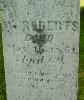 ROBERTS, W - Berkshire County, Massachusetts | W ROBERTS - Massachusetts Gravestone Photos