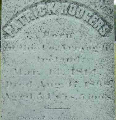 RODGERS, PATRICK - Berkshire County, Massachusetts   PATRICK RODGERS - Massachusetts Gravestone Photos