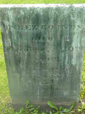 ROUNDS, JABEZ - Berkshire County, Massachusetts | JABEZ ROUNDS - Massachusetts Gravestone Photos