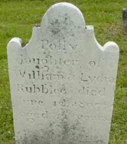 RUBBLEE, POLLY - Berkshire County, Massachusetts | POLLY RUBBLEE - Massachusetts Gravestone Photos