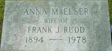 ELSER, ANNA M - Berkshire County, Massachusetts | ANNA M ELSER - Massachusetts Gravestone Photos