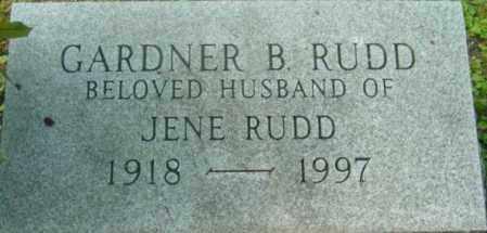 RUDD, GARDNER B - Berkshire County, Massachusetts   GARDNER B RUDD - Massachusetts Gravestone Photos