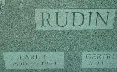 RUDIN, EARL F - Berkshire County, Massachusetts | EARL F RUDIN - Massachusetts Gravestone Photos