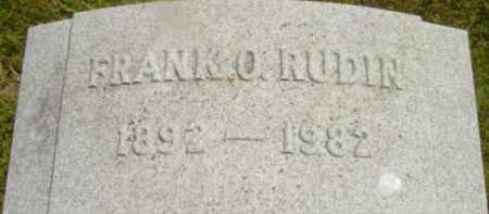 RUDIN, FRANK O - Berkshire County, Massachusetts | FRANK O RUDIN - Massachusetts Gravestone Photos