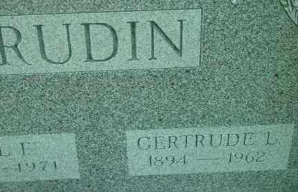 RUDIN, GERTRUDE L - Berkshire County, Massachusetts | GERTRUDE L RUDIN - Massachusetts Gravestone Photos