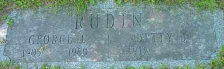 RUDIN, BETTY B - Berkshire County, Massachusetts | BETTY B RUDIN - Massachusetts Gravestone Photos