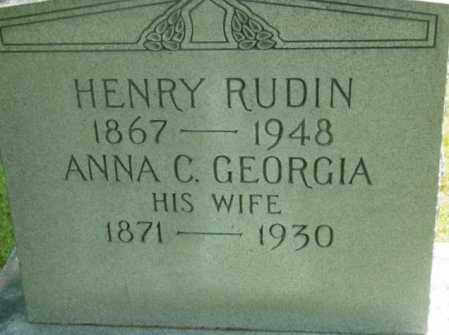 RUDIN, ANNA C - Berkshire County, Massachusetts | ANNA C RUDIN - Massachusetts Gravestone Photos