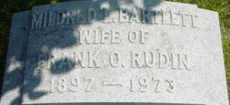 RUDIN, MILDRED L - Berkshire County, Massachusetts | MILDRED L RUDIN - Massachusetts Gravestone Photos