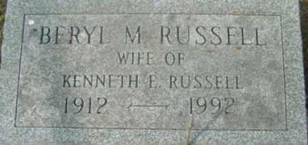 RUSSELL, BERYL M - Berkshire County, Massachusetts | BERYL M RUSSELL - Massachusetts Gravestone Photos