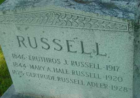 RUSSELL, ERUTHROS J - Berkshire County, Massachusetts | ERUTHROS J RUSSELL - Massachusetts Gravestone Photos