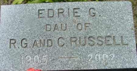 RUSSELL, EDRIE G - Berkshire County, Massachusetts   EDRIE G RUSSELL - Massachusetts Gravestone Photos