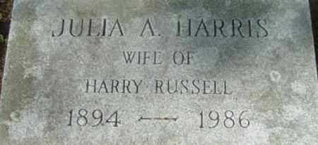 RUSSELL, JULIA A - Berkshire County, Massachusetts | JULIA A RUSSELL - Massachusetts Gravestone Photos