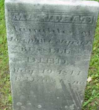 RUSSELL, MARTHA E - Berkshire County, Massachusetts | MARTHA E RUSSELL - Massachusetts Gravestone Photos