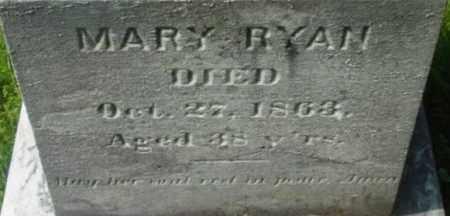 RYAN, MARY - Berkshire County, Massachusetts | MARY RYAN - Massachusetts Gravestone Photos