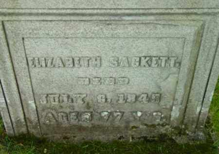 SACKETT, ELIZABETH - Berkshire County, Massachusetts | ELIZABETH SACKETT - Massachusetts Gravestone Photos