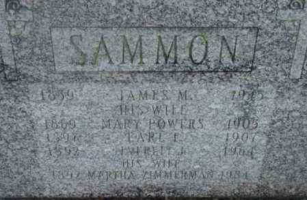 POWERS SAMMON, MARY - Berkshire County, Massachusetts | MARY POWERS SAMMON - Massachusetts Gravestone Photos