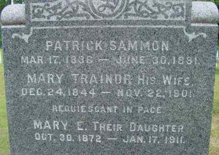 TRAINOR SAMMON, MARY - Berkshire County, Massachusetts | MARY TRAINOR SAMMON - Massachusetts Gravestone Photos