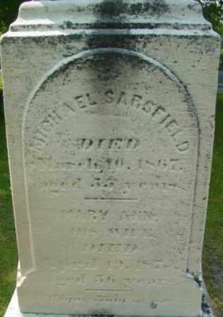 SARSFIELD, MARY ANN - Berkshire County, Massachusetts | MARY ANN SARSFIELD - Massachusetts Gravestone Photos