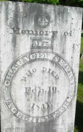 SEARS, CHAUNCEY - Berkshire County, Massachusetts   CHAUNCEY SEARS - Massachusetts Gravestone Photos