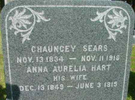 SEARS, CHAUNCEY - Berkshire County, Massachusetts | CHAUNCEY SEARS - Massachusetts Gravestone Photos